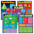 Trend Enterprises T-38912 Geometry Learning Charts Combo Pack