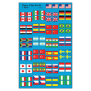 Trend Enterprises T-46078 Flags Of The World Supershape Superspots/Shapes Stickers
