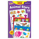 Trend Enterprises T-46928 Animal Star Lg Variety Pk Stickers