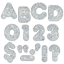 Trend Enterprises T-506 Ready Letters 2 Inch Casual Silver Sparkle