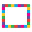 Trend Enterprises T-68015 Name Tags Rainbow Plaid 36/Pk