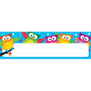 Trend Enterprises T-69217 Owl Stars Desk Toppers Name Plates