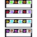 Trend Enterprises T-69907 Paw Prints Desk Toppers Name Plates Variety Pk