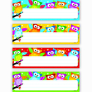 Trend Enterprises T-69910 Owl Stars Desk Toppers Name Plates Variety Pack