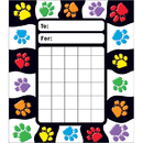 Trend Enterprises T-73060 Paw Prints Incentive Pad