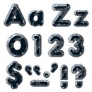 Trend Enterprises T-79940 Black Gems Ready Letters 4In Upper Lowercase Combo