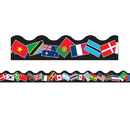 Trend Enterprises T-91352 Trimmer World Flags