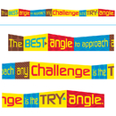 Trend Enterprises T-A25206 The Best Angle To Approach Any - Challenge Is The Try Angle Banner
