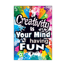 Trend Enterprises T-A67056 Creativity Is Your Mind Poster