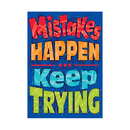 Trend Enterprises T-A67068 Mistakes Happen Keep Trying Poster
