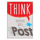 Trend Enterprises T-A67093 Think Before You Post Argus Poster