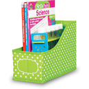 Teacher Created Resources TCR20785 Lime Polka Dots Book Bin