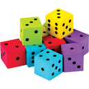 Teacher Created Resources TCR20808 20 Pack Foam Colorful Dice