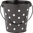 Teacher Created Resources TCR20825BN Black Polka Dots Bucket, 6 EA