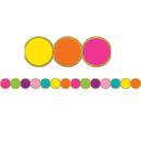 Teacher Created Resources TCR3571 Confetti Circles Diecut Border Trim