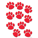 Teacher Created Resources TCR4647 Red Paw Prints Accents