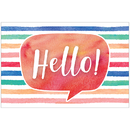 Teacher Created Resources TCR4764 Watercolor Hello Postcards