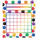 Teacher Created Resources TCR4773 Colorful Paw Prints Incentive Chart 5 1/4 X 6 36/Pk