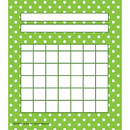 Teacher Created Resources TCR4774 Lime Polka Dots Incentive Chart 5 1/4 X 6 36/Pk