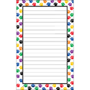 Teacher Created Resources TCR5087 Colorful Paw Prints Notepad