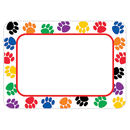 Teacher Created Resources TCR5168 Colorful Paw Prints Name Tags - Labels