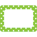 Teacher Created Resources TCR5174 Lime Polka Dots 2 Name Tags Labels