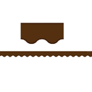 Teacher Created Resources TCR5207 Chocolate Scalloped Border Trim - Solid
