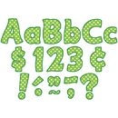 Teacher Created Resources TCR5345 Lime Polka Dots Funtastic Font 4In - Letters Combo Pack
