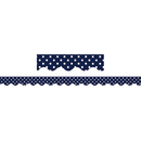 Teacher Created Resources TCR5432 Navy Polka Dots Scalloped Border - Trim