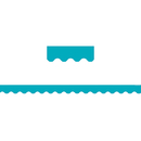 Teacher Created Resources TCR5450 Teal Solid Scalloped Border Trim