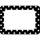 Teacher Created Resources TCR5538 Black Polka Dots 2 Name Tags