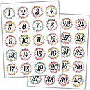 Teacher Created Resources TCR5574 Confetti Numbers Stickers