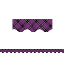 Teacher Created Resources TCR5793 Purple Plaid Scalloped Border Trim