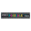 Teacher Created Resources TCR5840 Chalkboard Brights Anything Is Possible Banner