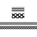 Teacher Created Resources TCR73174 Black & White Zig Zag Double Sided - Border