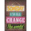 Teacher Created Resources TCR7401 Change The World Positive Poster