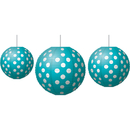 Teacher Created Resources TCR77103 Paper Lanterns Teal Polka Dots