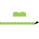 Teacher Created Resources TCR77123 Magnetic Borders Lime Polka Dots