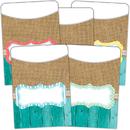 Teacher Created Resources TCR77178 Shabby Chic Library Pockets Multi - Pack