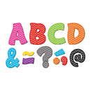 Teacher Created Resources TCR77213 Chevron Funtastic Font 3In Magnetic - Letters