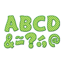 Teacher Created Resources TCR77215 Lime Polka Dots Funtastic Font 3In - Magnetic Letters