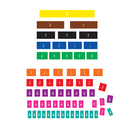 Teacher Created Resources TCR77245 Fraction Tiles Magnetic Accents