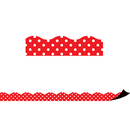 Teacher Created Resources TCR77255 Red Polka Dots Magnetic Border