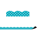 Teacher Created Resources TCR77257 Teal Polka Dots Magnetic Border