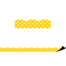 Teacher Created Resources TCR77258 Yellow Polka Dots Magnetic Border