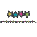 Teacher Created Resources TCR77313 Chalkboard Brights Stars Mag Border