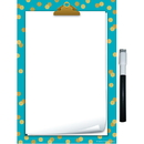 Teacher Created Resources TCR77890 Teal Confetti Small Note Sheet Clingy Thingies