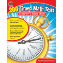 Teacher Created Resources TCR8069 200 Timed Math Tests Elementary