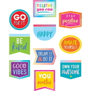 Teacher Created Resources TCR8825 Positive Sayings Accents Colorful Vibes