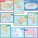 Teacher Created Resources TCR9689 Map Charts Set 9 Charts